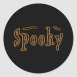 Spooky Bats Halloween Design Classic Round Sticker