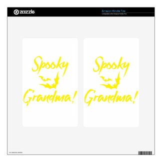 Spooky Bats Halloween for Grandma Decals For Kindle Fire