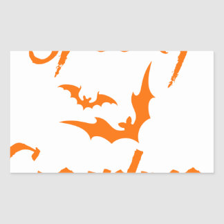 Spooky Bats Halloween Grandma Rectangular Sticker