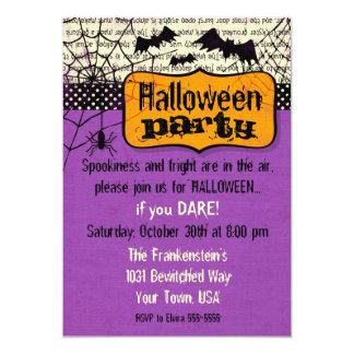 Spooky Bats Halloween Invitation