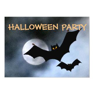 Spooky Bats Halloween Invitations