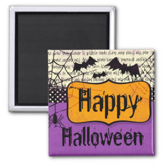 Spooky Bats Halloween Magnet