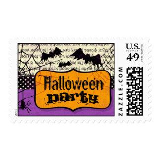 Spooky Bats Halloween Postage