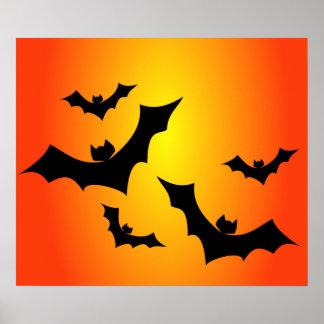 spooky Bats halloween poster