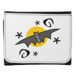 Spooky Bats Leather Trifold Wallet