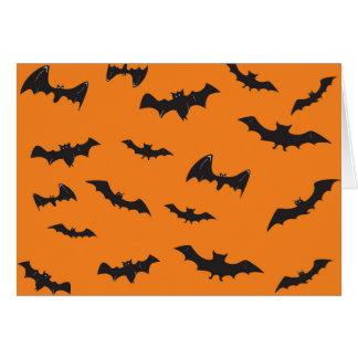 Spooky Bats on Orange Card