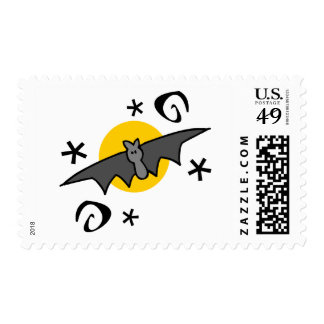 Spooky Bats Postage Stamp