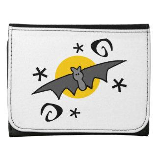 Spooky Bats Leather Trifold Wallet