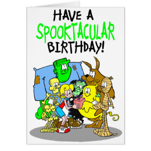 Spooky birthday cards greeting photo cards zazzle spooky birthday card for girls bookmarktalkfo Images