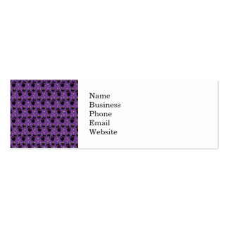 Spooky Black Cat and Cauldron Halloween Pattern Business Card Templates