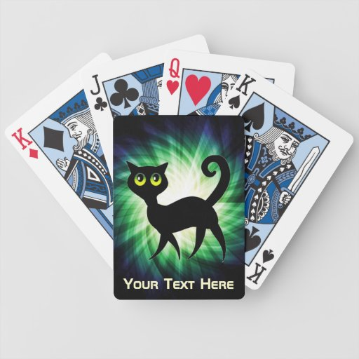 Spooky Black Cat Bicycle Card Deck