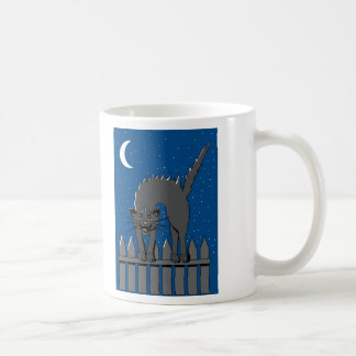 Spooky Black Cat Classic White Coffee Mug