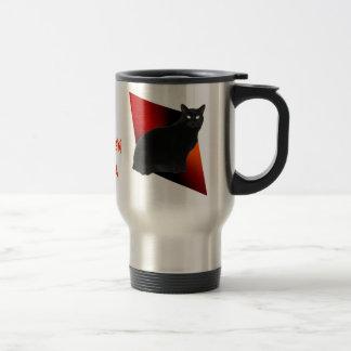 Spooky Black Cat Custom Halloween Travel Mugs