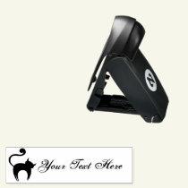Spooky Black Cat Custom Text Pocket Stamp