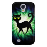 Spooky Black Cat Galaxy S4 Cover
