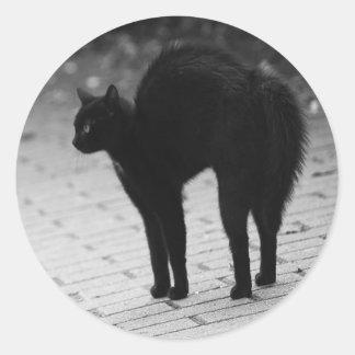 Spooky Black Cat Goth Sticker Set