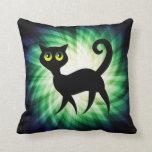 Spooky Black Cat Pillows