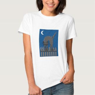 Spooky Black Cat T-shirts