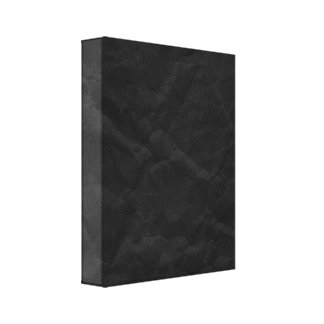 SPOOKY BLACK CRINKLED WRINKLED PAPER TEXTURE TEMPL GALLERY WRAP CANVAS