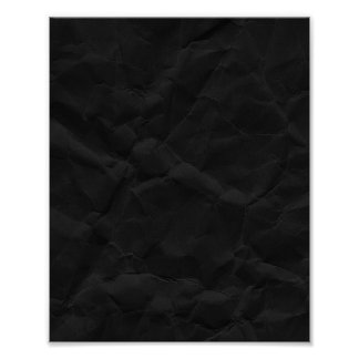 SPOOKY BLACK CRINKLED WRINKLED PAPER TEXTURE TEMPL POSTER