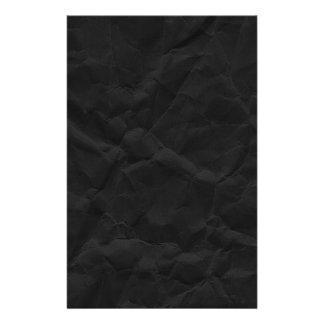 SPOOKY BLACK CRINKLED WRINKLED PAPER TEXTURE TEMPL STATIONERY DESIGN