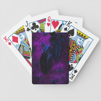 Spooky Black Material Rose, Black Spiders Bicycle Playing Cards