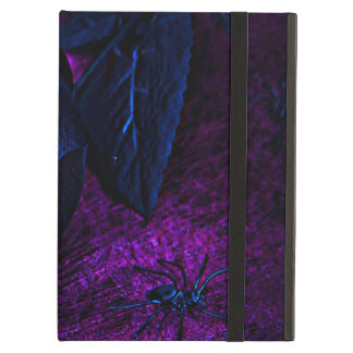 Spooky Black Material Rose, Black Spiders iPad Air Cases