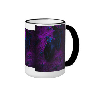 Spooky Black Material Rose, Black Spiders Coffee Mugs