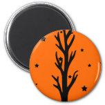 Spooky Black Silhouette Tree Magnet
