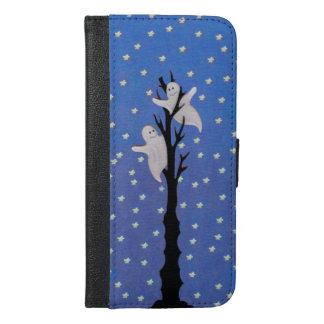 Spooky Black Tree Ghosts Stars Night Sky Halloween iPhone 6/6s Plus Wallet Case
