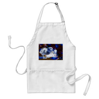 Spooky blue and white baby ducks aprons