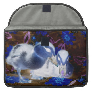 Spooky blue and white baby ducks sleeve for MacBooks