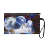 Spooky blue and white baby ducks wristlet