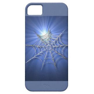Spooky Blue Glistening Spiderweb iPhone SE/5/5s Case