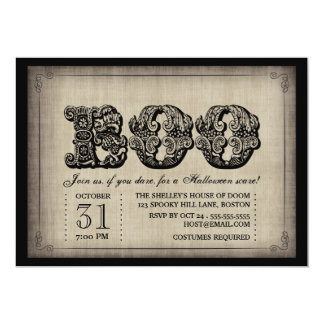 Spooky BOO Gothic Halloween Party Invitation