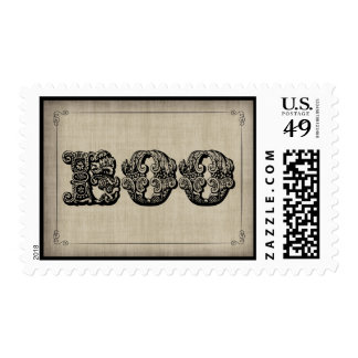 Spooky BOO Gothic Halloween Postage