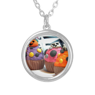 Spooky Cakes Silver Plated Necklace