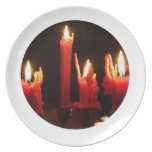 Spooky candles in the dark party plates