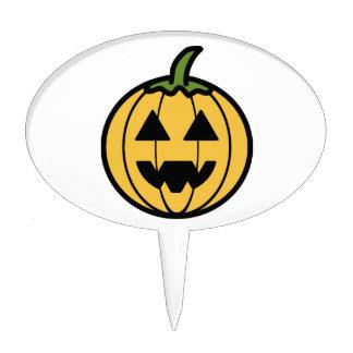 Spooky Carved Halloween Pumpkin Jack-o-Lantern Cake Pick