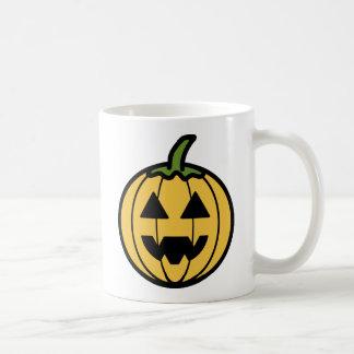 Spooky Carved Halloween Pumpkin (Jack-o-Lantern) Coffee Mug