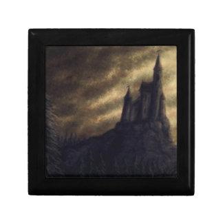 spooky castle halloween jewelry box