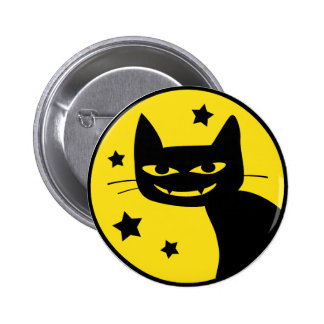 Spooky Cat 2 Inch Round Button