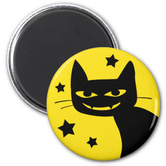 Spooky Cat 2 Inch Round Magnet