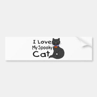 Spooky Cat Bumper Sticker