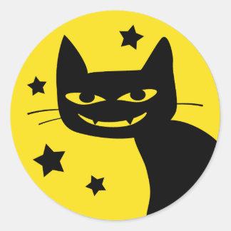 Spooky Cat Classic Round Sticker