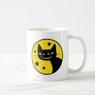 Spooky Cat Classic White Coffee Mug