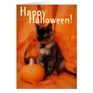 Spooky Cat Halloween Card