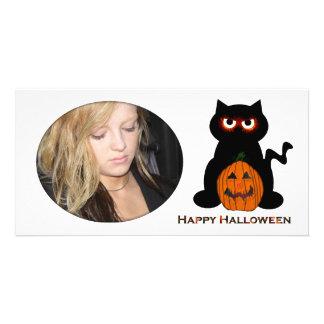 Spooky Cat Halloween Photo Card