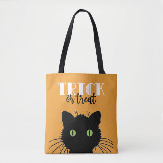 Spooky Cat Halloween Tote Bag
