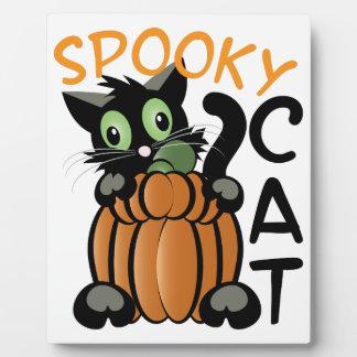 Spooky Cat Plaque